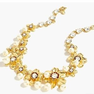 J. CREW | Pearl & Crystal Statement Necklace NEW